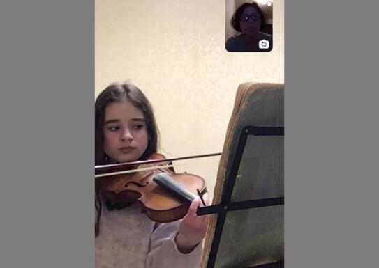 """Заняття ансамблю скрипалів під назвою""""Знову карантин"""""""